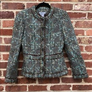 Eccoci Tweed Wool Jacket. Anthropologie brand!